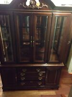 Great Condition Solid Oak China Cabinet ($150 OBO)
