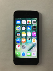 BELL / VIRGIN Space Grey 16GB iPhone 5S (A- Condition)