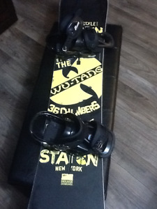Limited edition Wu Tang + Burton Freestyle bindings