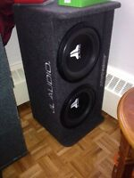 Subwoofer, amp and stereo