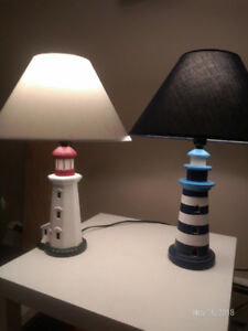 Unique lighthouse lamps....1 for $30 or 2 for $45