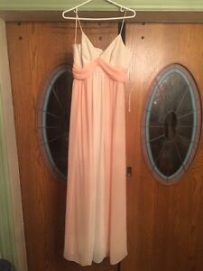 Brand new dress in peach and almond