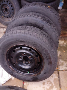 215-70-15 toyo observe on steel rims  5x114,3