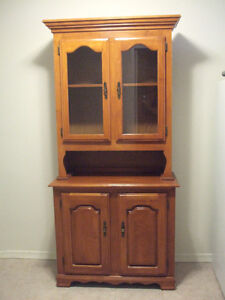 China Cabinet - Real wood with real glass door inserts