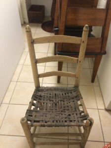 Antique woven seat chair