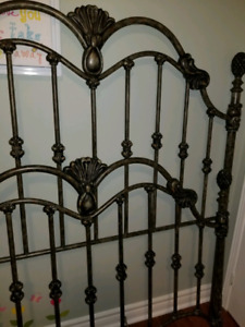 Victorian Wrought Iron double bed frame