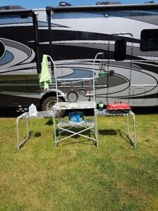 Outdoor Collapsible Cook/Kitchen Station for RV or Camper