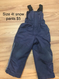 Kids costumes, snow suits and boots