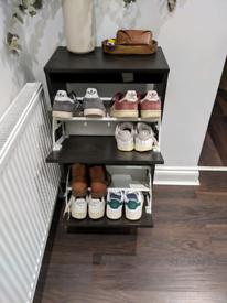 Black shoe cabinet