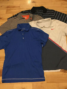 Lot of 8 MED Golf Shirts - Nike, Under Armour, Ping, Polo, Izod