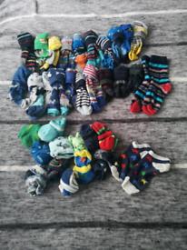 Boys Bundle boxers, pants, long socks, trainer socks.