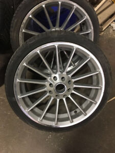 """Stylish 17 """" rims from honda civic with rubber"""