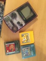 Game boy colour with three games