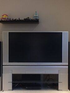 """50"""" HD LCD Hitachi rear projection with stand"""