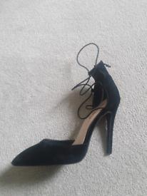 Free black strappy heels size 5