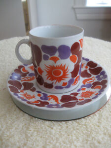 "QUAINT LITTLE ""FAVOLINA""  [POLAND]... DEMI TASSE CUP & SAUCER"