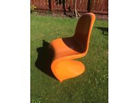 Retro s-shaped chair