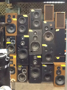 SPEAKER SALE!!! $15 +up, over 100 speakers to choose from!