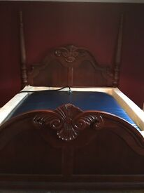 Superking solid rosewood waterbed