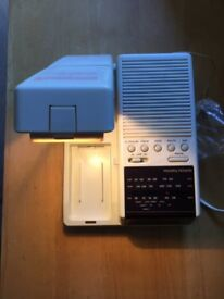 "Vintage 1970 ""MORPHY RICHARDS"" 3 Band Radio, Light & Clock for Sale"