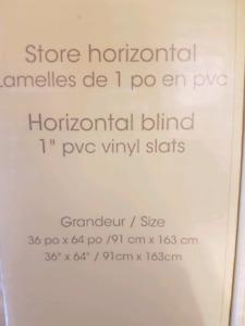 White vinyl blinds