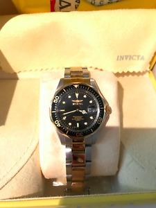 Invicta Pro Diver, 14k gold plated
