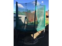8Ft Trampoline and enclosure with ladder