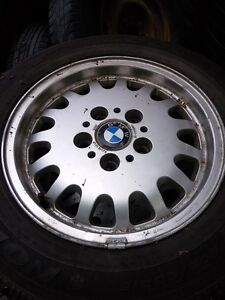 BMW winter tires P205 60r15 with rims