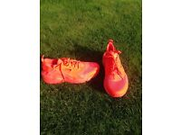 Size 6 Bright Orange Nike Huarache 2016