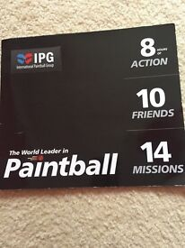 paintball ticket for only £20 for 10 people