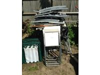 JOB LOT x50 Folding Garden Chairs & Tables Used Party Barbecue Car Boot