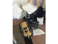 Bugaboo Cameleon 2nd generation off white& maxi cosi&more