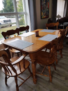 Teak Table And Six Chairs