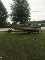 16 1/2 ft 1972 Starcraft 70 hp aluminum fishing boat