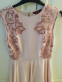 Ted Baker chiffon and sequin dress size 8-10