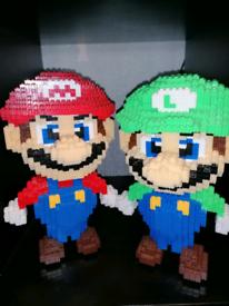 Mario & Luigi microblock figures