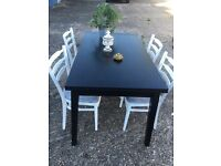 HABITAT EXTENDABLE TABLE + 4 CHAIRS FREE DELIVERY