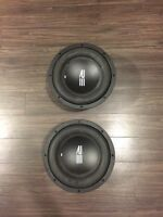 "Two (2) 10"" RE Audio Subwoofers 600RMS handlig power each"