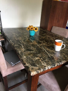 Bar height dining table 4 chairs