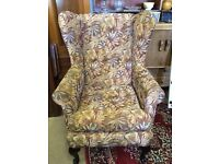 Wing back fireside armchair nice clean condition