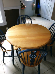 Kitchen, dining table and chairs
