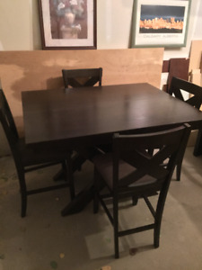 Solid wood table and 4 chairs