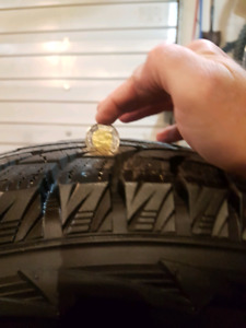 HANKOOK PIKE RW11 WINTER TIRES ON VOXX RIMS MINT CONDITION