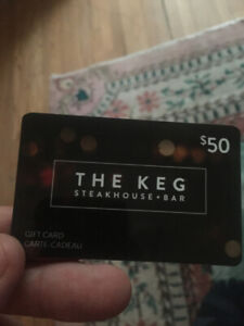 The Keg Steakhouse Gift Card $50 Value Selling for $30 Firm
