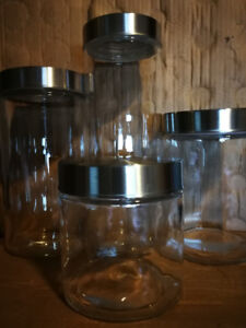 7-Piece Glass Canister Set with Sealing Lids
