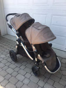 Poussette Double Baby Jogger City Select taupe