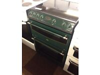 GREEN BELLING 60CM DOUBLE OVEN FAN ASSISTED ELECTRIC COOKER