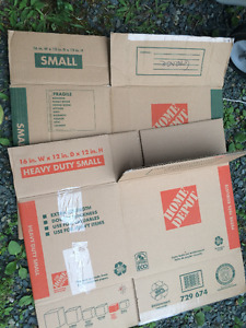 Assorted  Home Depot Moving Boxes