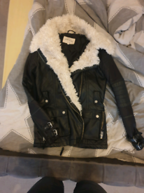 Ladies river island leather jacket