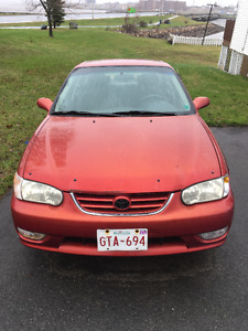 2001 Toyota Corolla Sport Sedan 1000$ OBO